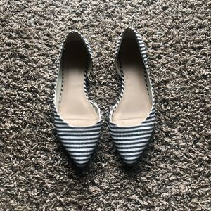 Blue and white flats